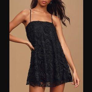 Lulus Black Lace Mini Dress